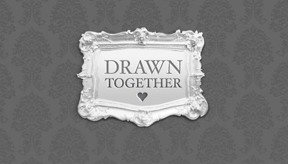Drawn Together custom invitation logo