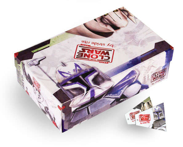 Star Wars Striderite cobranded shoeboxes